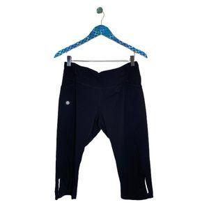 Athleta Black Dobby Be Free Knickers Capri Pant